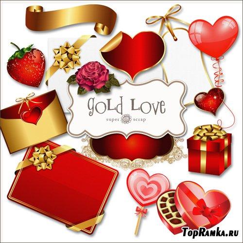 Скрап-набор - Золотая Любовь
