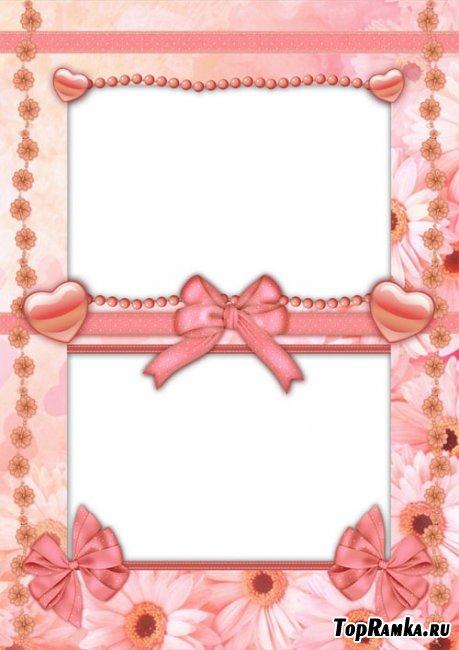 Романтическая PSD Рамка - Симпатичный Персик