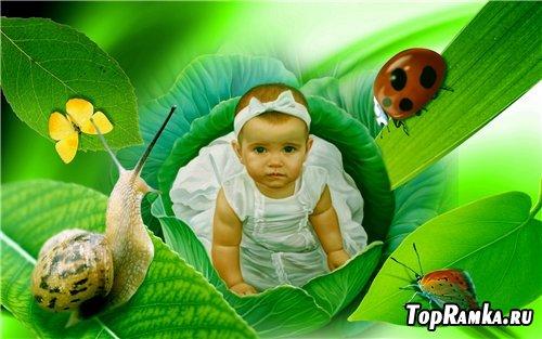 Детский шаблон для фотошоп - Мир глазами ребёнка