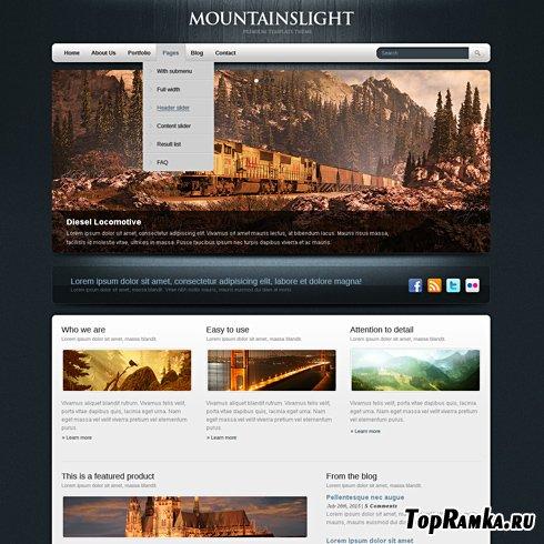 Dynamic CSS Templates - Bluewood