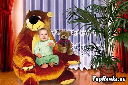 Детский шаблон для фотошопа - Наш малыш