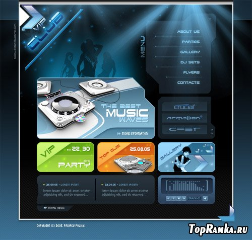 Vip Night Club PSD Web Template