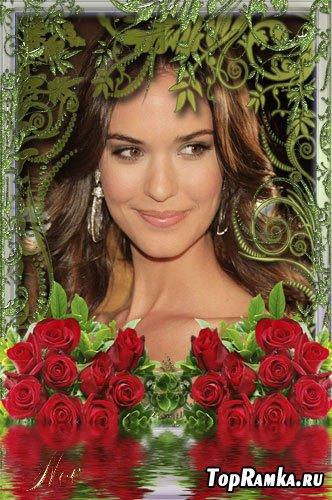 Рамочка для фото - Чувственные розы