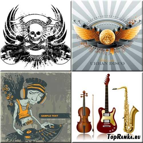 Микс изображений на тему музыки  Shutterstock