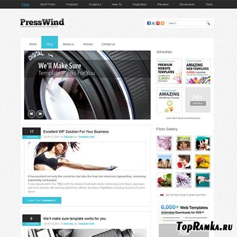 Dynamic CSS Templates - Presswind