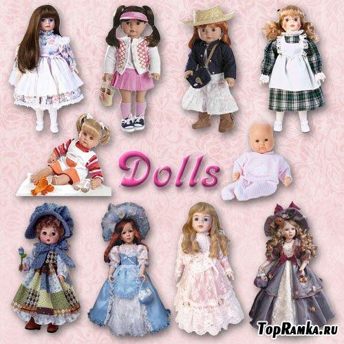 Клипарт PNG - Куклы