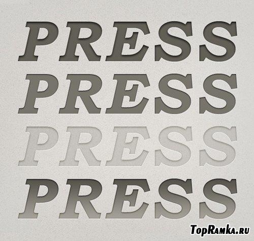 Free Letterpress Styles
