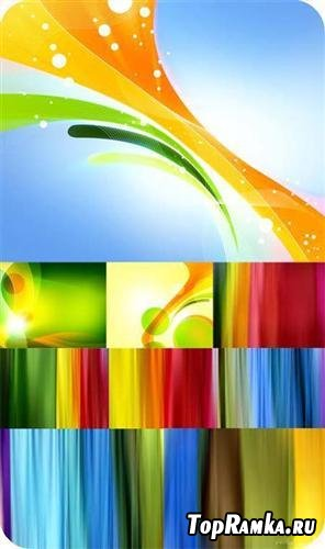 Stock set of color backgrounds
