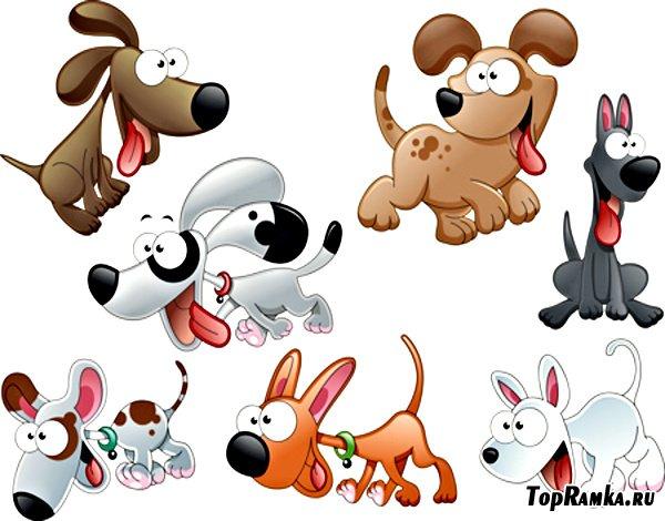 Клипарт - Смешные Собачки