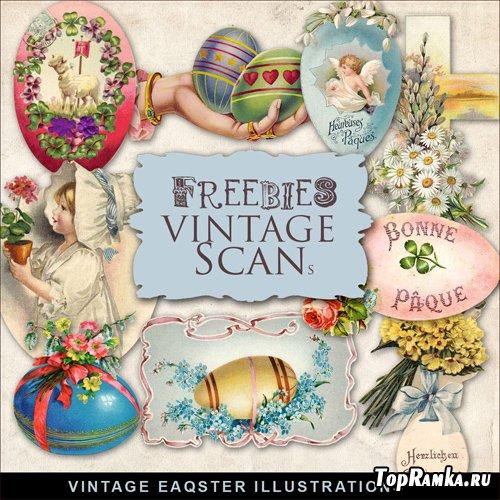 Scrap-kit - Vintage Easter Illustrations