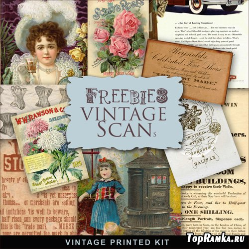 Scrap-kit - Vintage Printed Set