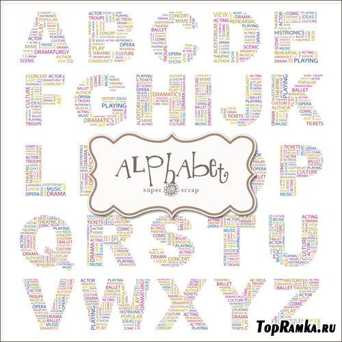 Scrap-kit - Text Alphabets