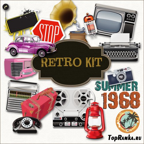 Scrap-set - Retro Kit
