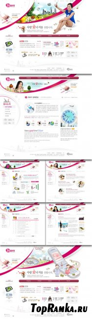 PSD Web Site Template - Electronics Store Website