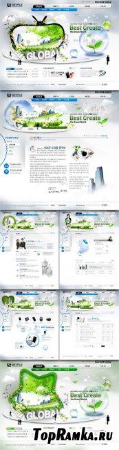 Global Internet PSD Web Templates