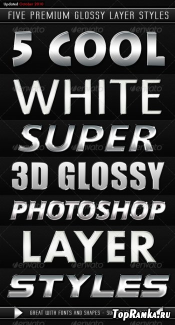 GraphicRiver White Modern 3D Glossy Layer Styles RETAIL