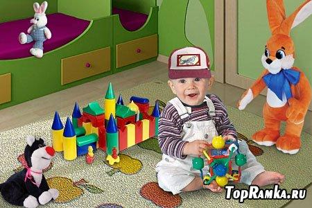 Детский шаблон для фотошопа - Вот и построил