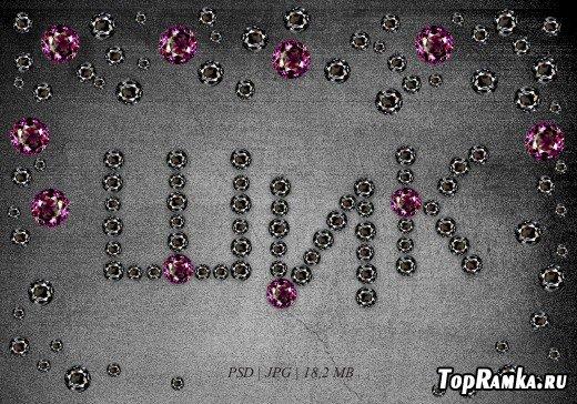 PSD алфавит из драгоценных камней + Мини скрап набор