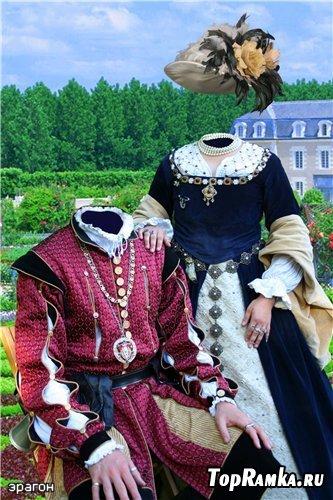 Парный шаблон для фотомонтажа – Королевская династия