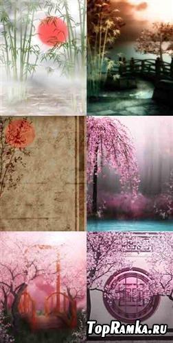 Сказочные фоны в восточном стиле