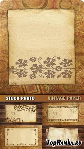 Stock Photo - Старая бумага с орнаментом