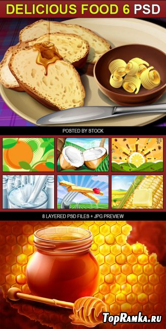 PSD Source - Delicious food 6