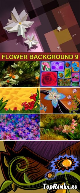PSD Source - Flower background 9