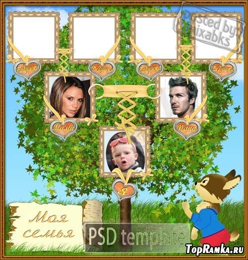 Виньетка - семейное дерево (PSD)
