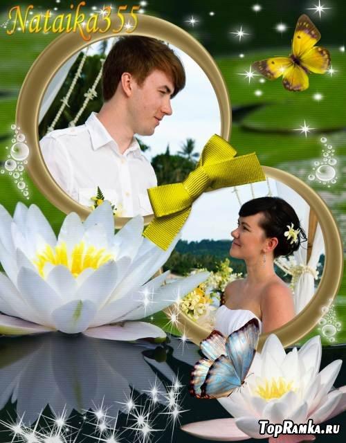 Рамка для двух фото - Романтическое свидание в сказке