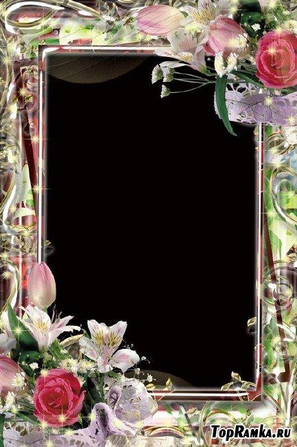 Рамка для фотошопа – В мире цветов