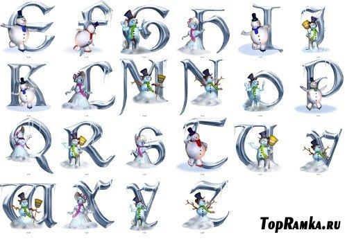 Клипарт Морозный алфавит (Frosty Alphabet) (3 набора) (обновлён 12.02.2011)