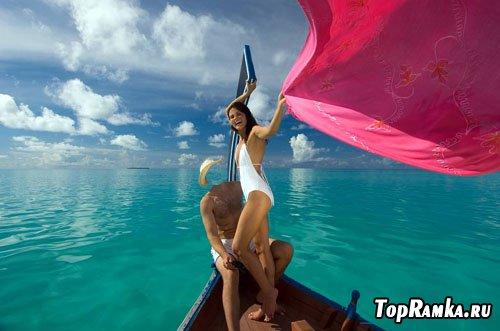 Мужской шаблон - На Мальдивах