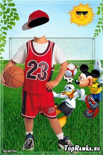 Детский костюм для фотомонтажа мальчикам – Футболист