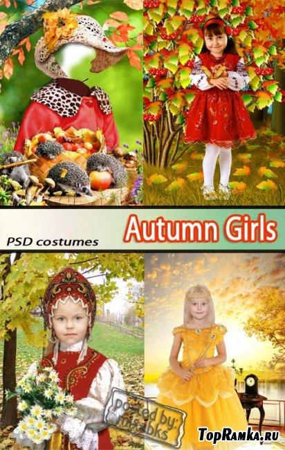 Осенние костюмы | Autumn Girls (PSD costumes)