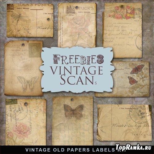 Scrap-kit - Vintage Old Paper Labels