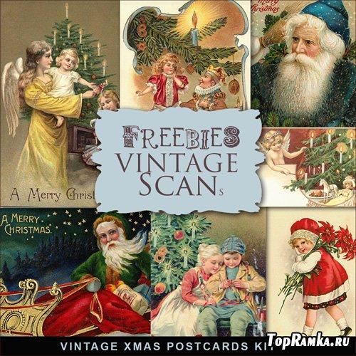 Scrap-kit - Vintage X-mas Postcards #1