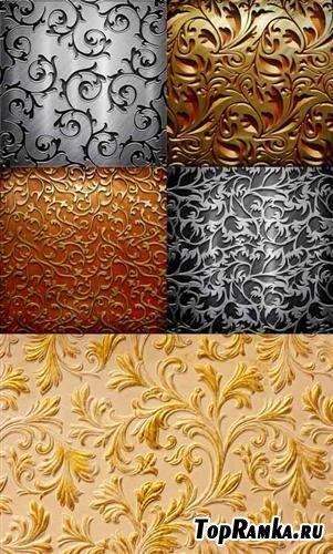 Золотые и серебряные винтажные фоны (HQ)