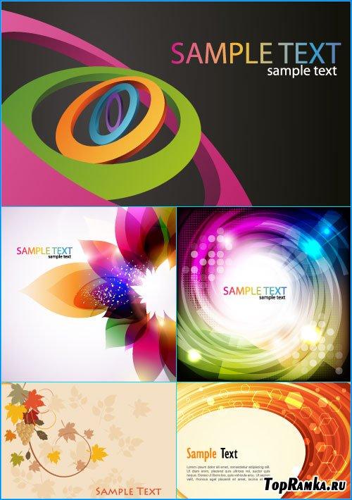 Цветные фоны Sample Text (Вектор)