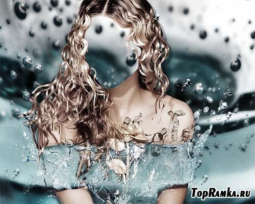 Шаблон для фотомонтажа - платье из воды
