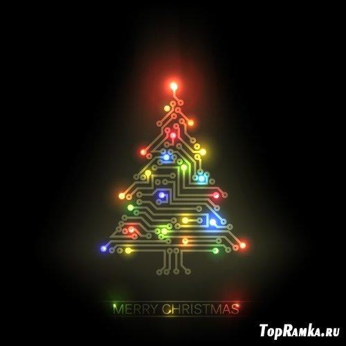 Электронная светодиодная елка (Вектор)