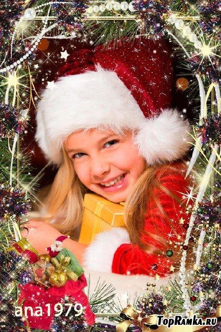 Рамка для фотошопа – Этой ночью новогодней пусть мороз стучит в окно