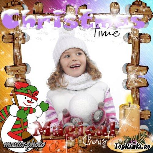 Зимняя рамка для фото – Магия Рождества