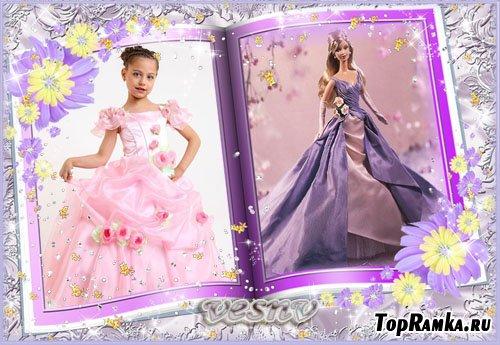Детская рамка для фото – журнал мод с барби