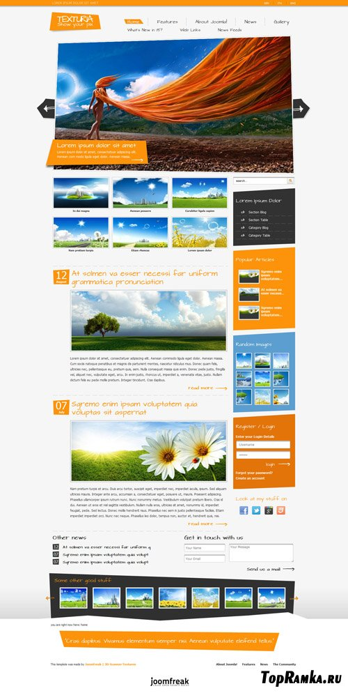 JoomFreak - Texturia - Template For J1.5 & J1.7
