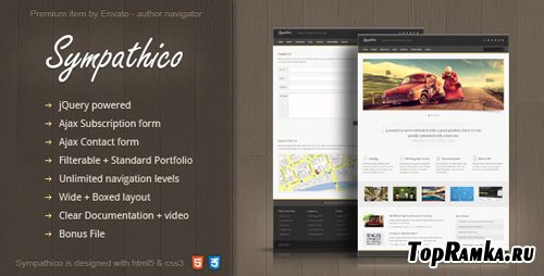 ThemeForest - Sympathico - multipurpose site template - Rip