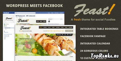 ThemeForest - Feast - Facebook Fanpage & WordPress theme