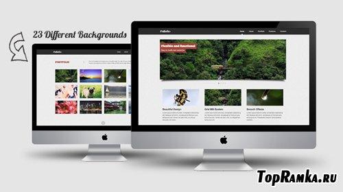 MojoThemes - Fabric+ Minimalist One Page Portfolio - Rip