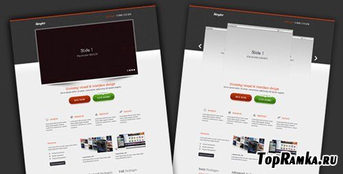 ThemeForest - simpler – Landing page - Rip
