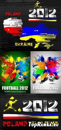 Футбольный клипарт в векторе Евро-2012 (EPS)