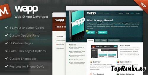 ThemeForest - Wapp - Web and App Developer v1.1.0 for Wordpress 3.x